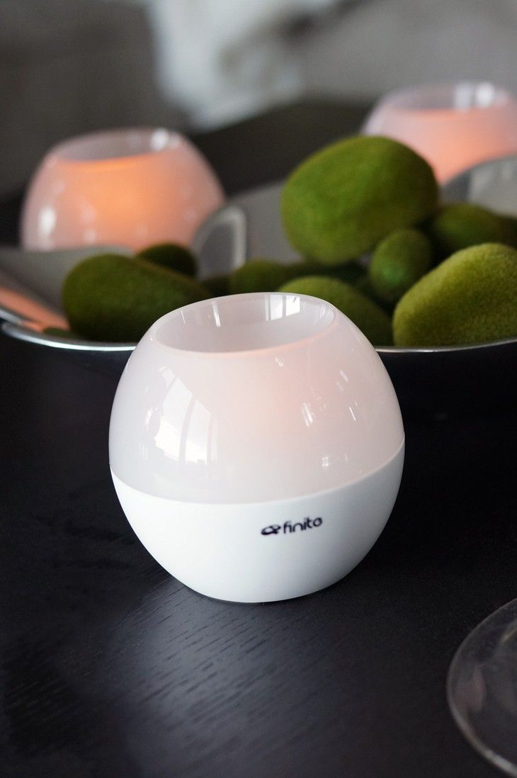 RoqLite Wireless Speakers + Flickering LED Candle #neat