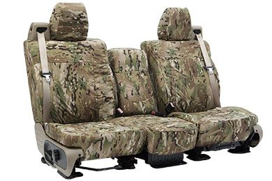 Coverking Multi Cam Camo Seat Covers - Tactical Ballistic Seat Cover - $309.99, 60/40 split bench.
