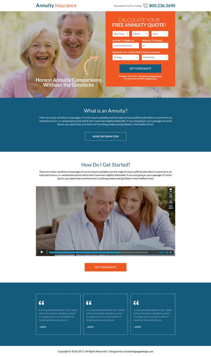 Annuity Quotes 7 Best Retirement Planning Landing Page Design Images On Pinterest