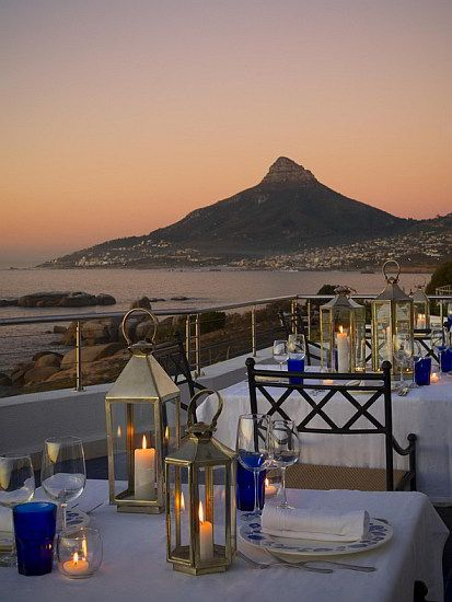 view of Lions head from 12 Apostles hotel.. must stay here a few nights..