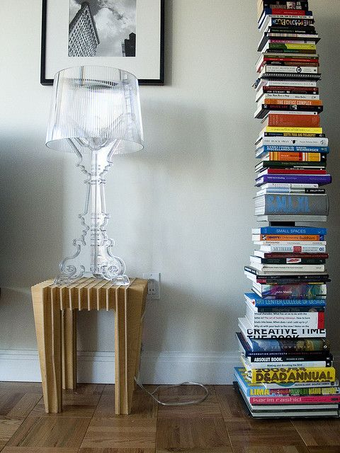 Bourgie Table Lamp w/ Sapien Bookcase, by Michael Surtees,