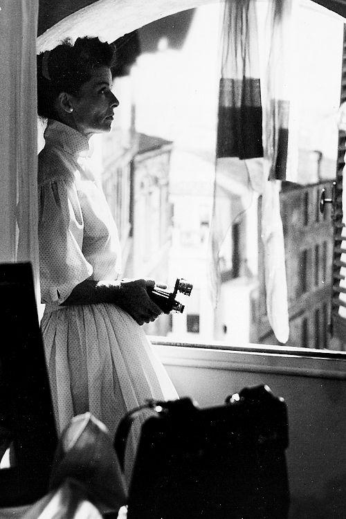 Katharine Hepburn in 'Summertime', 1955, filmed in Venice.