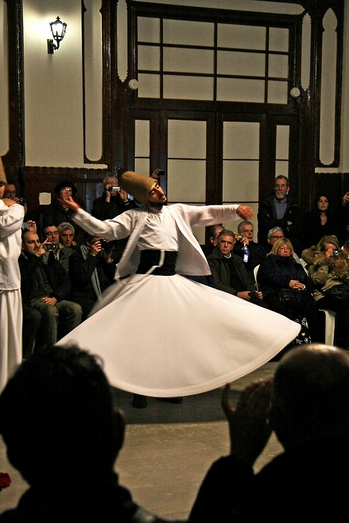 Whirling Dervish at Sirkeci Terminal, Istanbul, Turkey