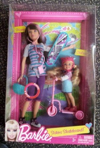 Barbie Sisters Skateboard Chelsea Amp Skipper Doll Set