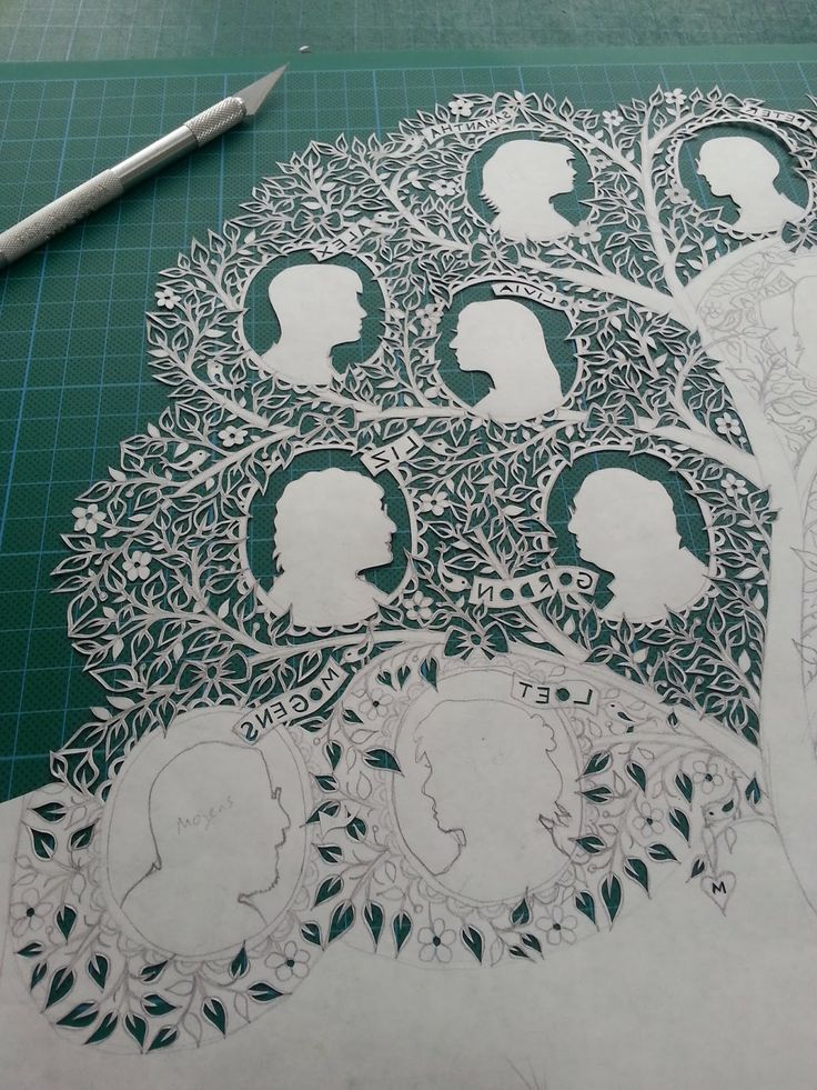 suzy taylor This is so awesome!  Family tree in paper cut ~ I don't think I could possibly have the patience or the steady hands to do such intricate work This is beautiful!
