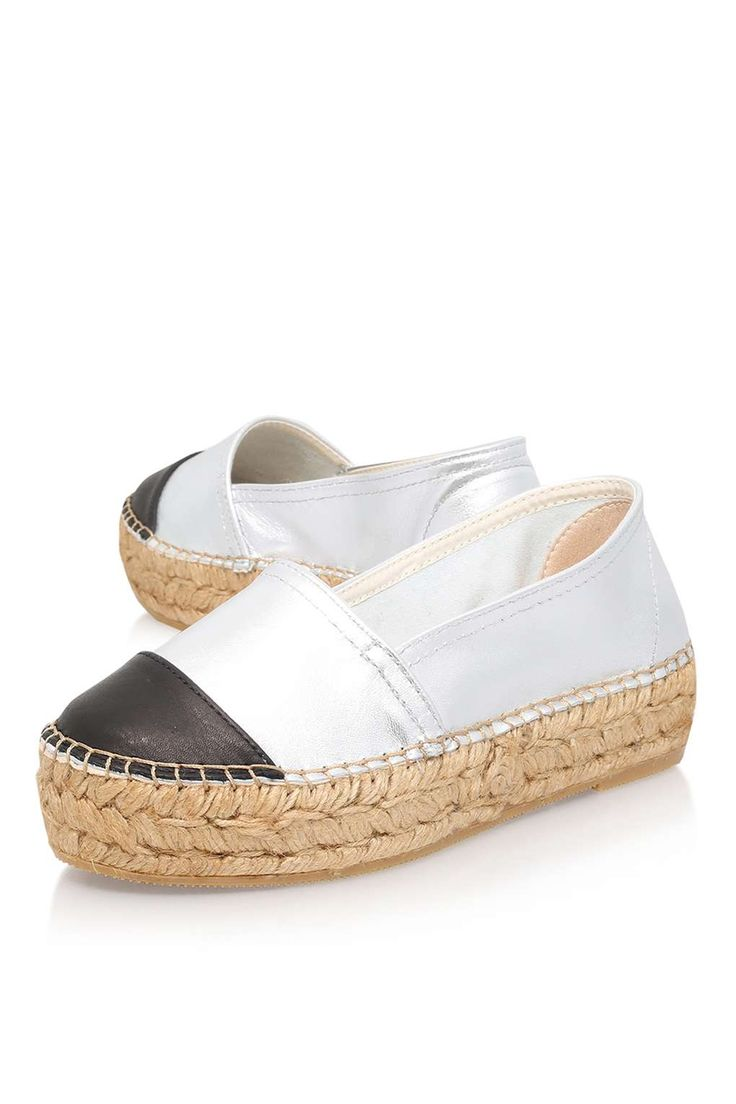 **Mellow Silver Espadrille Sneakers By KG Kurt Geiger - View All - Shoes - Topshop