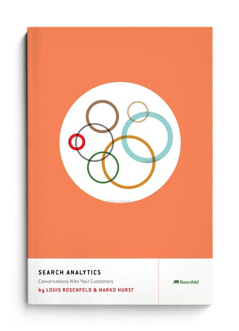 Minimal cover design. Circles. (Cover design: The Heads of State; Book: Search Analytics for Your Site from Louis Rosenfeld, Rosenfeld Media)
