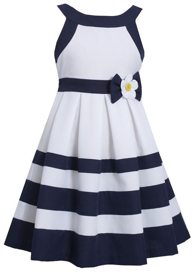 Bonnie Jean Girls White & Navy Striped dress, just bought this for Peighton for the wedding <3