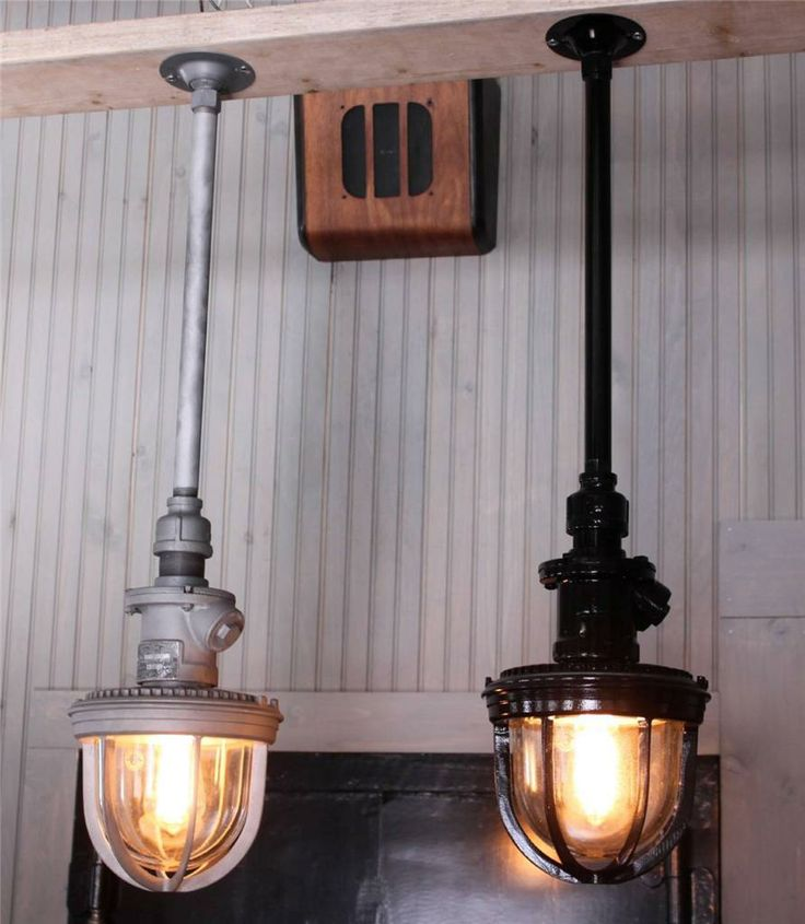 Old Warehouse Light Fixtures: One Of Our Recent Re-creations.... Repurposed Industrial