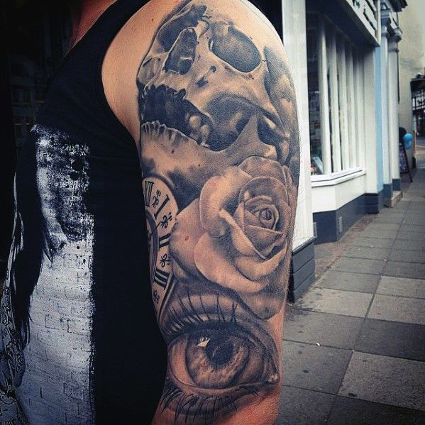 1000 ideas about rose tattoos for men on pinterest tattoos for men tattoo for man and rose. Black Bedroom Furniture Sets. Home Design Ideas