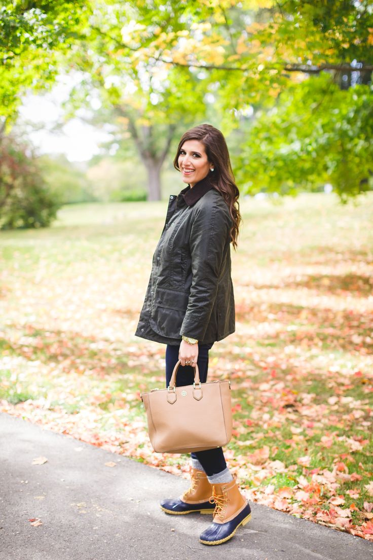 barbour jacket, barbour coat, beadnell jacket, preppy fall outfit, new england fall,  bean boots, monogram necklace // grace wainwright from a southern drawl