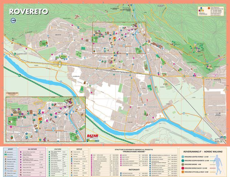 map rovereto | travel | Map, Travel, Nordic walking