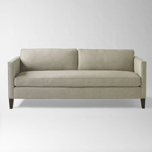 Beautiful Dunham Box Cushion Down Filled Sofa   Natural