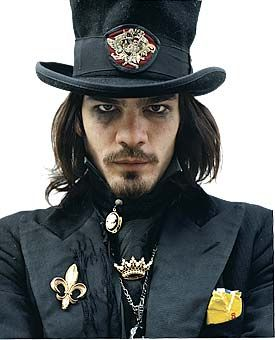 Hat + jacket + tie + thrift store jewelry + makeup = a great original vampire costume (although the photo is an artist, not somebody in costume)-  BRIAN ERMANSKI. | LA CARMINA. Gothic Lolita Punk † Cute Girls Japanese fashion † Tokyo Japan street style † Visual Kei Jrock bands