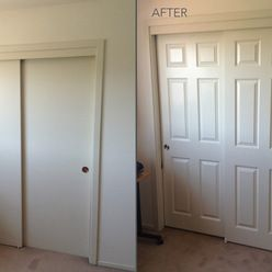A New Closet Door Is A Simple Update That Completely Changes The Space.  This Interior