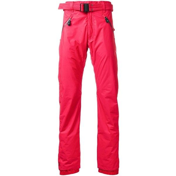 Kru \'Leak 2 Memory Tec\' Ski Trousers ($873) ❤ liked on Polyvore featuring men's fashion, men's clothing, men's pants, men's casual pants, mens red pants, mens ski pants and mens red ski pants