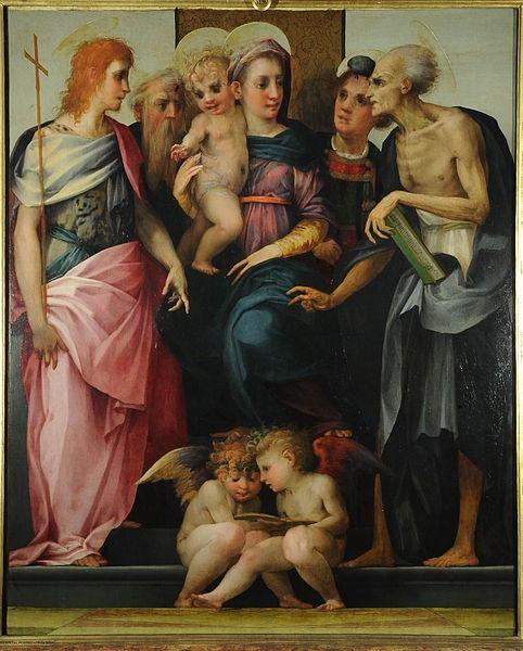 Rosso Fiorentino - Firenze - Uffizi (originariamente destinata alla chiesa di Ognissanti) - Pala dello Spedalingo o Pala di Leonardo Buonafede - 1518