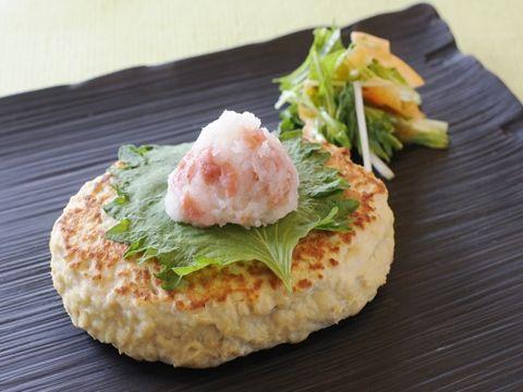 レンコンハンバーグのさっぱりおろしぽん酢がけ  https://recipe.yamasa.com/recipes/1589
