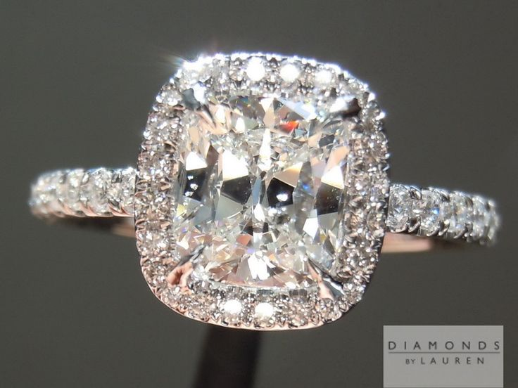 Cushion cut diamond by diamondsbylauren.