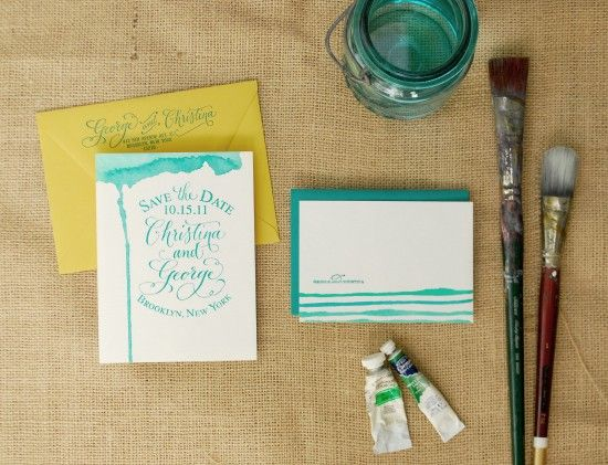 Waterpaint invitation