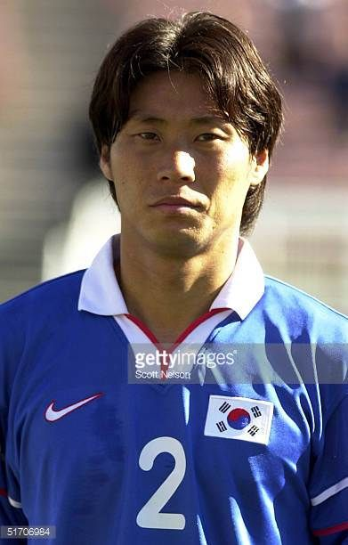 SungYong Choi from South Korea poses during the Gold Cup soccer tournament in Pasadena California 02 February 2002 AFP PHOTO/Scott NELSON