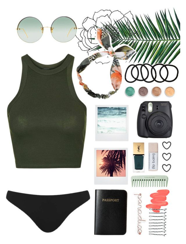 """Vacation"" by nataliastariha ❤ liked on Polyvore featuring Terre Mère, Nika, Topshop, Yves Saint Laurent, Vera Bradley, WALL, Wet Seal, Fuji, Polaroid and Linda Farrow"