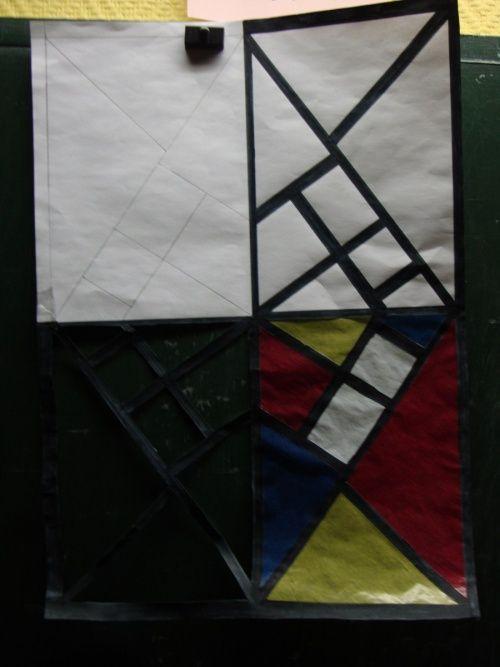 Etapes pour faire un joli effet vitrail mat riel feuille for Materiel et paysage