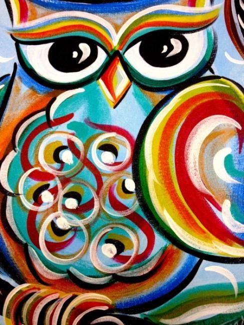 Uptown Art Calendar Hendersonville Tn : Best images about owl canvas ideas on pinterest