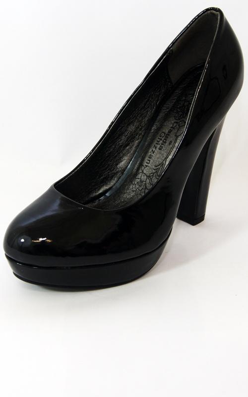 Black Patent Platform Chunky Heels   Price: £12.00 http://www.riskyfashions.com/p/Black-Patent-Platform-Chunky-Heels_813.html