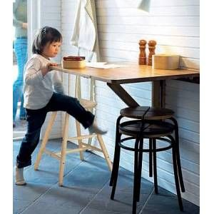 Ikea norbo wall mounted table la cocina pinterest for Table up and down ikea