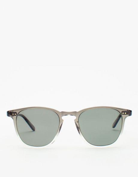 [ garrett leight ]: brooks grey fade sunglasses
