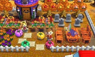 Halloween Animal Crossing Happy Home Designer achhd