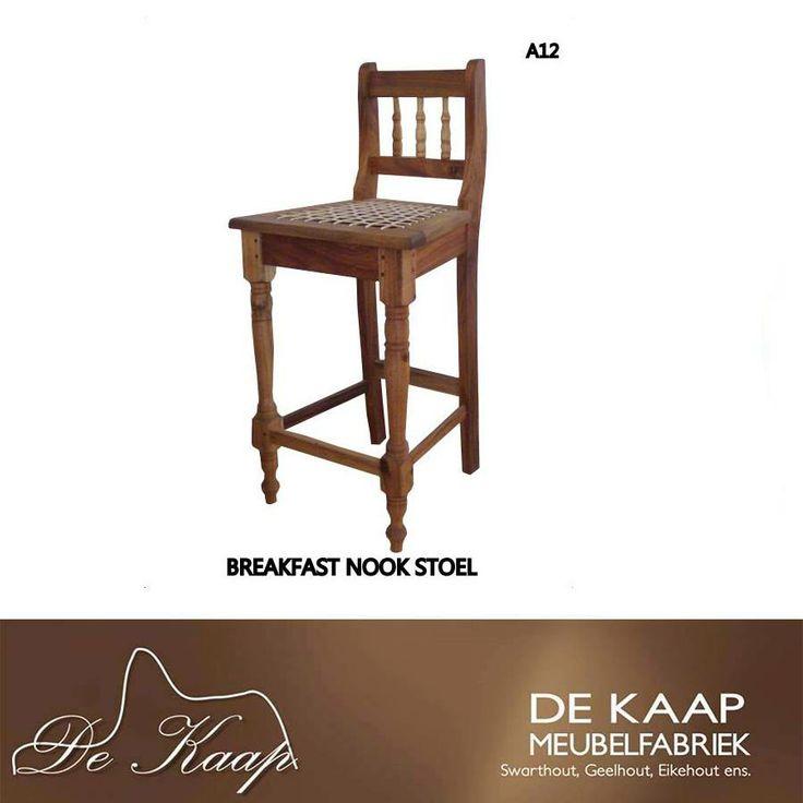 Comfortable Breakfast Nook Chair * Gemaklike Ontbythoekie Stoel #solidwood #furniture