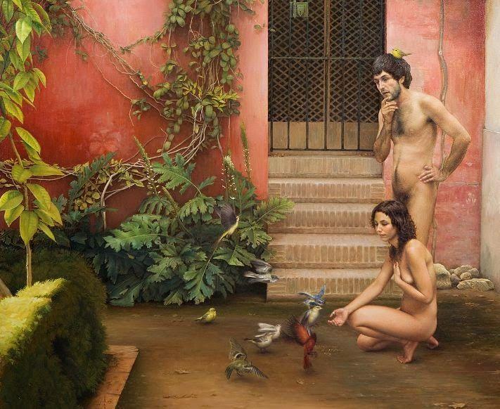 Αδάμ και Εύα στο Παράδεισο - Αδάμ και Εύα στον κήπο της ασυνειδησίας Mikel Olozabal Rodriguer