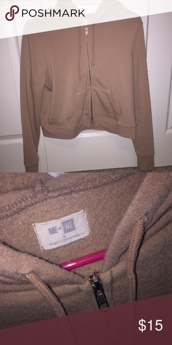 Nude zip up hoodie Has been washed a few times, but still very comfy! PacSun Tops Sweatshirts & Hoodies