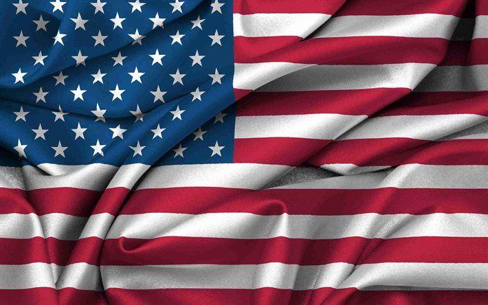Download Wallpapers Usa American Flag Usa Flag Silk Besthqwallpapers Com Usa Flag Wallpaper American Flag Pictures America Flag Wallpaper