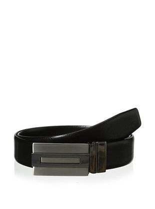 61% OFF J.Campbell Los Angeles Men's Pebbled & Smooth Plaque Buckle Belt (Black)