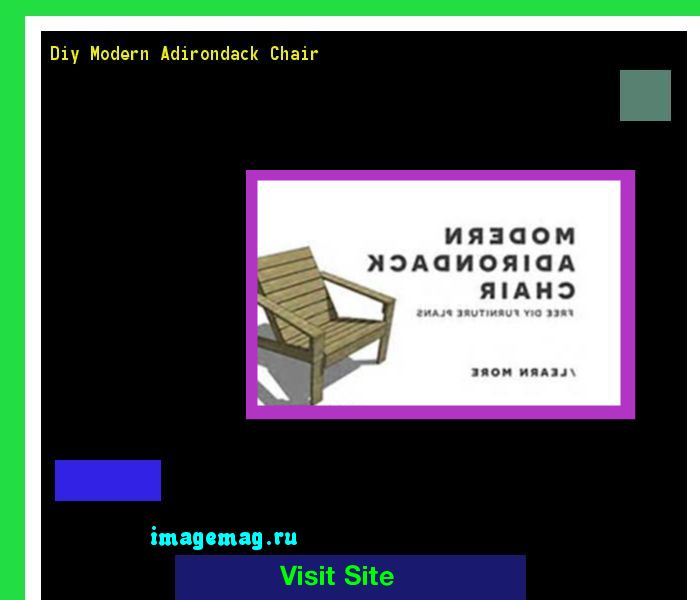 Diy Modern Adirondack Chair 172953 - The Best Image Search