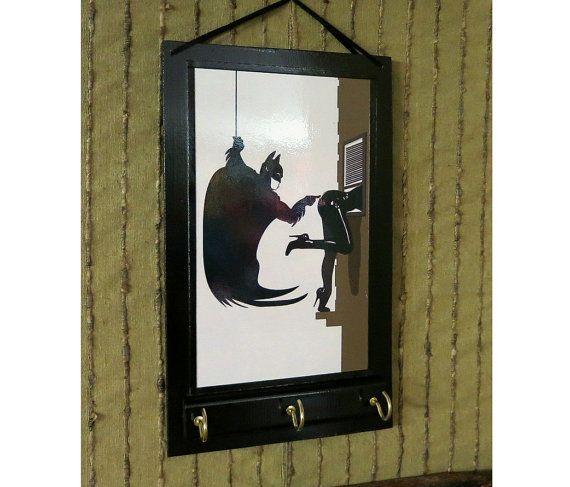 Wandkunst Schlüsselhalter Batman Ohr Telefon von NchantedGifts