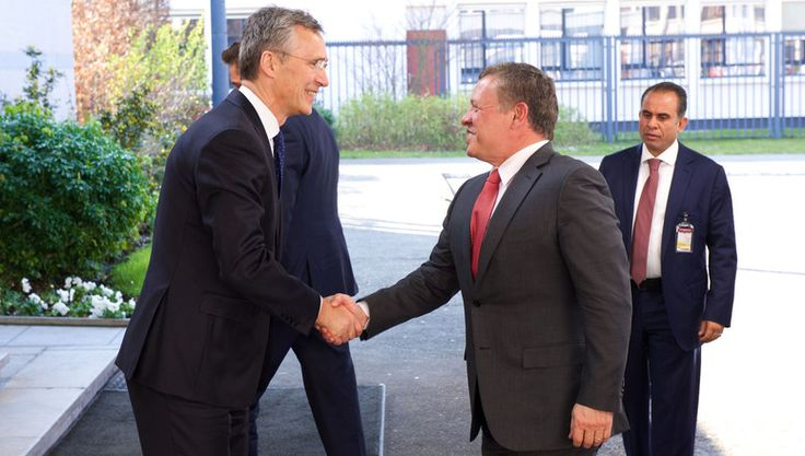 17 March 16 NATO Secretary General Jens Stoltenberg meets with His Majesty King Abdullah II ibn Al Hussein of Jordan