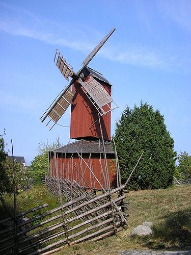 Beautiful windmill, Mariehamn, Åland, Finland