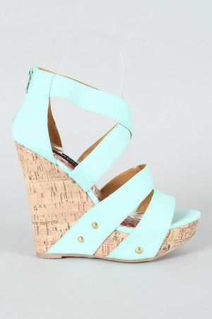 Aqua wedges are perfect for this upcoming summer!