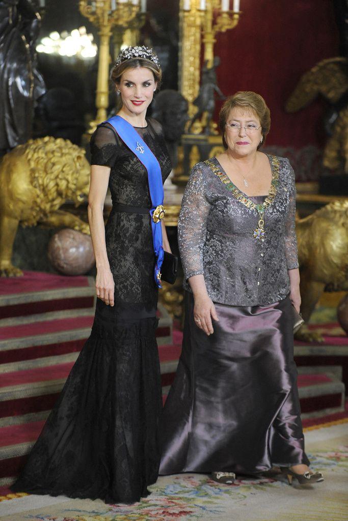 Madrid, Octubre de 2014Madrid, Octubre de 2014.   La Reina, Letizia de España, de gala en la cena en honor de la presidenta de Chile, Michelle Bachelet, en el Palacio Real.