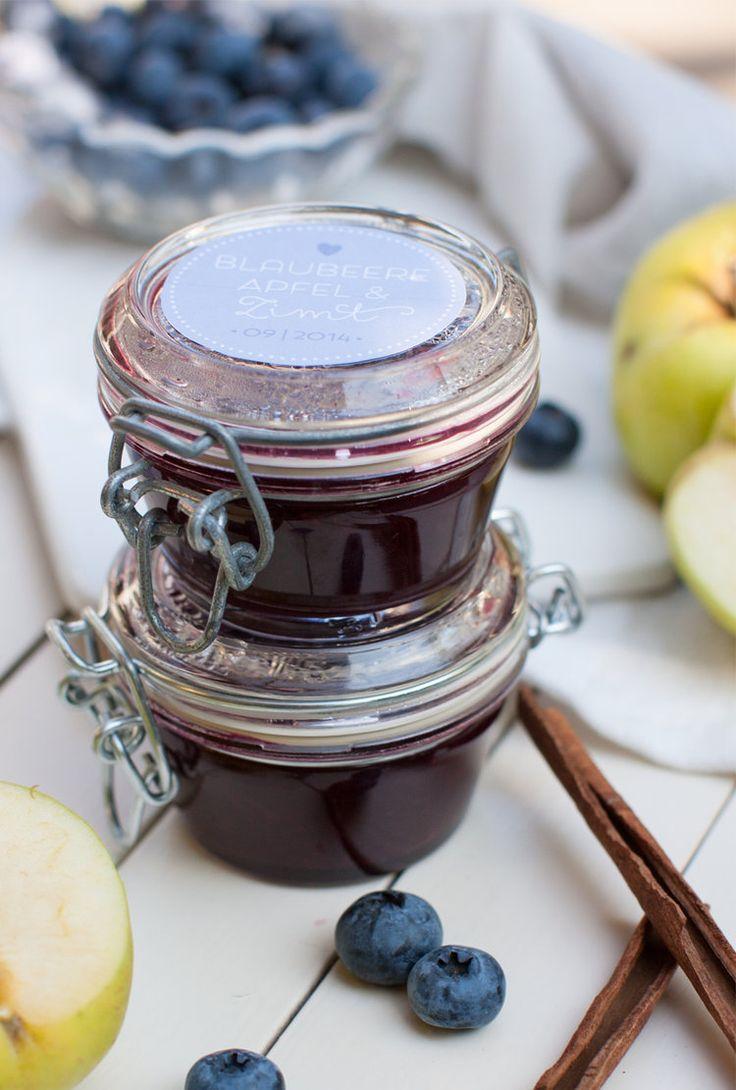 Blaubeer-Apfel-Zimt-Marmelade © feiertäglich
