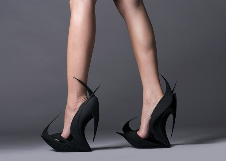 Zaha Hadid, Ben van Berkel and more design 3D-printed shoes for United Nude.