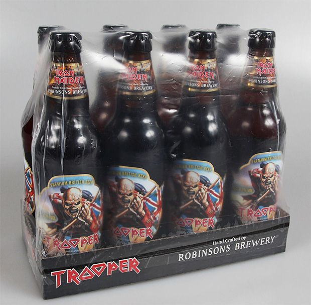 Iron Maiden Trooper Ale - Bruce Dickinson of Iron Maiden actually worked to develop the classic English Ale with the experts at Robinsons Brewery, a 175 year-old UK brewer.
