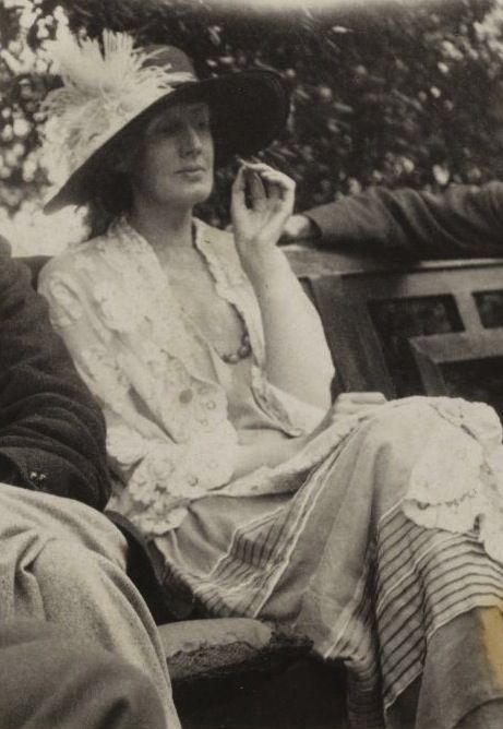 Virginia Woolf (English, 1882-1941) at Monk's House, Sussex, date unknown. Woolf was regarded as one of the foremost modernist literary figures of the twentieth century. In her works she experimented with stream-of-consciousness and the underlying psychological as well as emotional motives of characters.