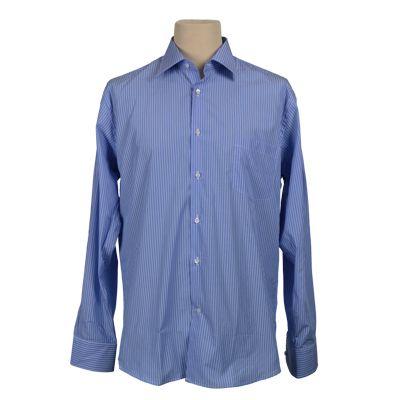 Camicia vestibilita' regolare rigata - Rigato celeste - Invernale. € 37,00. #hallofbrands #hob #camicia #shirt