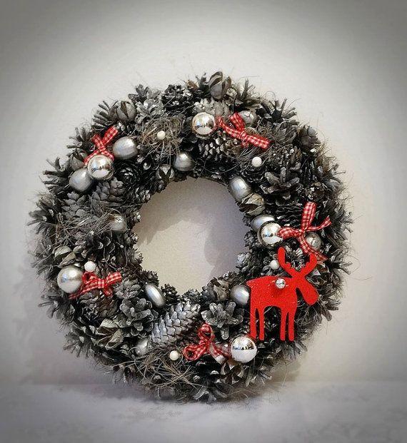 Pine Cone Wreath Christmas Wreath Winter Wreath by MDECOR1979