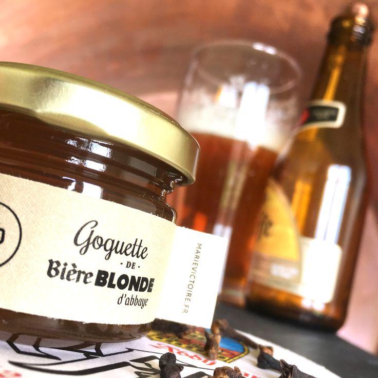Goguette de Bière Blonde d'Abbaye Cette gelée douce et agréable au palais se démarque par son ampleur en bouche. A la fois rustique et légèrement amère on trouvera quelques notes de pain d'épices et de clous de girofle.